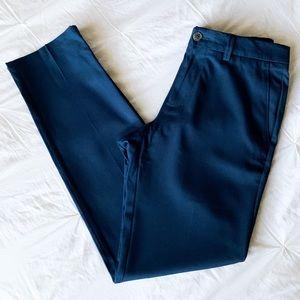 Haggar H26 Men's Slim Fit Heather Blue Trousers